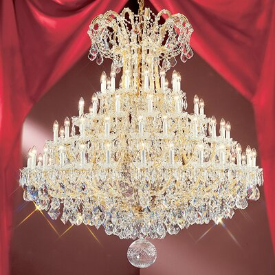 Maria Thersea 84-Light Crystal Chandelier Finish: Olde World Gold, Crystal Type: Crystalique