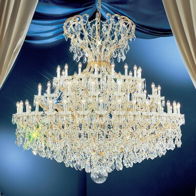 Maria Thersea 72-Light Crystal Chandelier Finish: Olde World Gold, Crystal Type: Crystalique