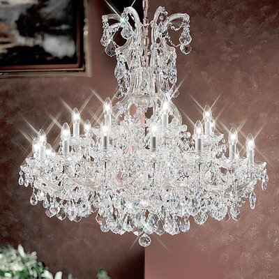 Maria Thersea 25-Light Crystal Chandelier Finish: Chrome, Crystal Type: Crystalique