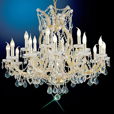 Maria Thersea 19-Light Crystal Chandelier Finish: Olde World Gold, Crystal Type: Swarovski Elements