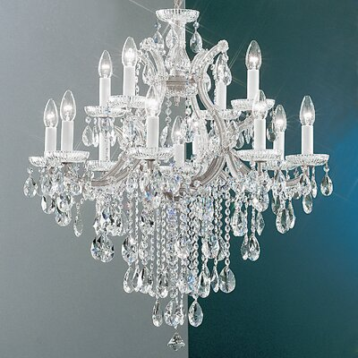 Maria Thersea 13-Light Crystal Chandelier Finish: Chrome, Crystal Type: Crystalique