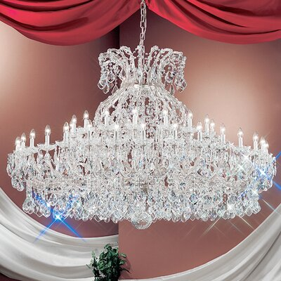 Maria Thersea 49-Light Crystal Chandelier Finish: Chrome, Crystal Type: Swarovski Elements