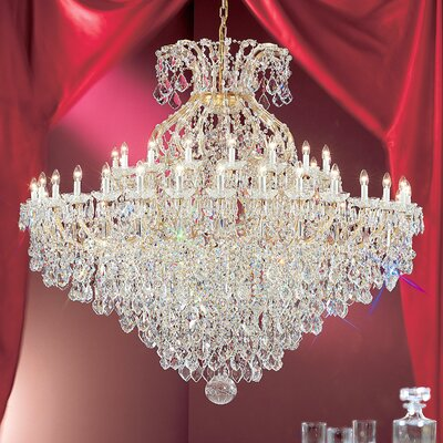 Maria Thersea 49-Light Crystal Chandelier Finish: Olde World Gold, Crystal Type: Crystalique