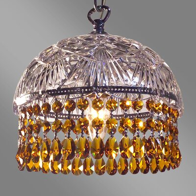 Prague Color 1-Light Bowl Pendant Crystal Type: Crystalique Amber
