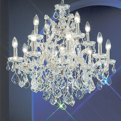 Maria Thersea 13-Light Crystal Chandelier Crystal Type: Swarovski Spectra, Finish: Olde World Gold