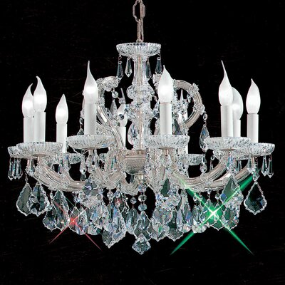 Maria Thersea 10-Light Crystal Chandelier Finish: Chrome, Crystal Type: Crystalique