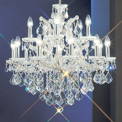 Maria Thersea 16-Light Crystal Chandelier Finish: Olde World Gold, Crystal Type: Crystalique