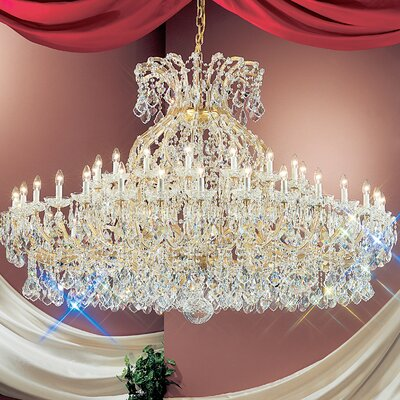 Maria Thersea 49-Light Crystal Chandelier Crystal Type: Swarovski Elements, Finish: Olde World Gold