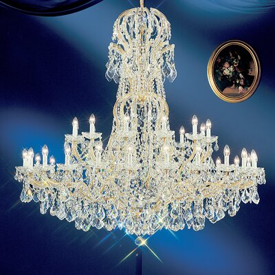 Maria Thersea 37-Light Crystal Chandelier Finish: Olde World Gold, Crystal Type: Crystalique