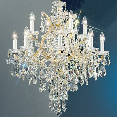 Maria Thersea 13-Light Crystal Chandelier Crystal Type: Crystalique, Finish: Olde World Gold