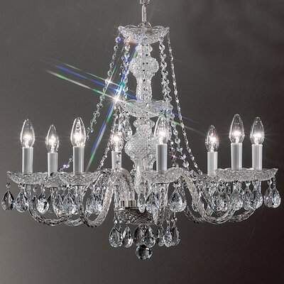 Monticello 8-Light Crystal Chandelier Finish: Chrome
