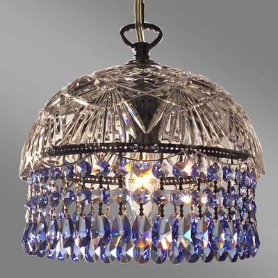 Prague Color 1-Light Bowl Pendant Crystal Type: Crystalique Sapphire