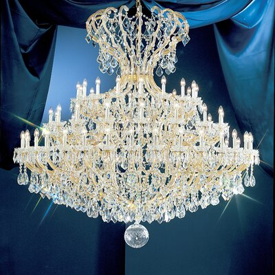 Maria Thersea 72-Light Crystal Chandelier Finish: Olde World Gold, Crystal Type: Swarovski Elements