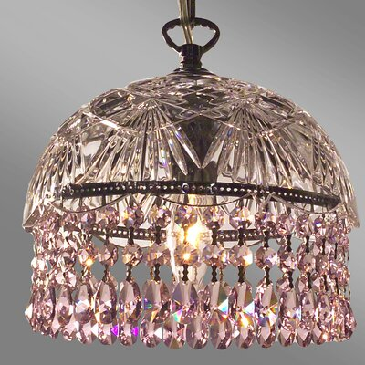 Prague Color 1-Light Bowl Pendant Crystal Type: Crystalique Pink