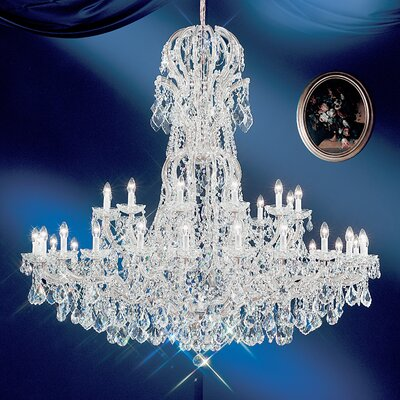 Maria Thersea 37-Light Crystal Chandelier Finish: Chrome, Crystal Type: Crystalique
