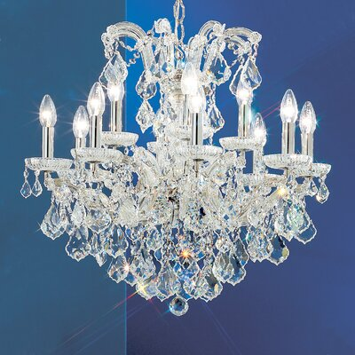 Maria Thersea 12-Light Crystal Chandelier Crystal Type: Swarovski Elements, Finish: Olde World Gold