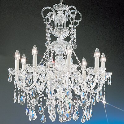 Bohemia 8-Light Crystal Chandelier Crystal Type: Swarovski Elements, Finish: 24K Gold Plate