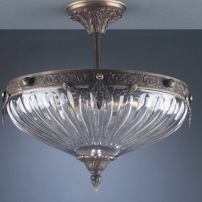 Warsaw 3-Light Semi-Flush Mount