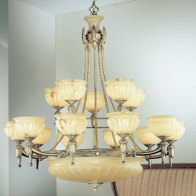 Marie Antoiniette 18-Light Shaded Chandelier