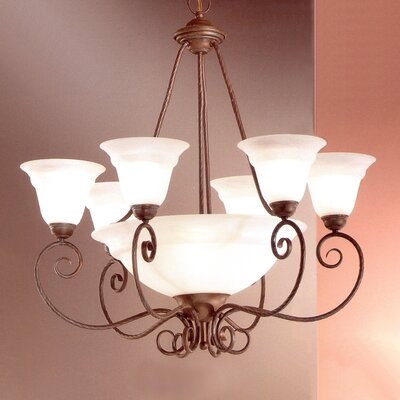 Portofino 9-Light Shaded Chandelier Finish: Bronze