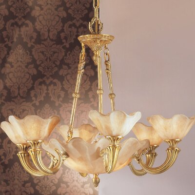 Atlantis 9-Light Shaded Chandelier Finish: Honey Bronze