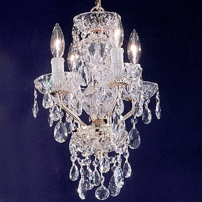 Letitia 4-Light Crystal Chandelier Finish: Chrome, Crystal Type: Crystalique