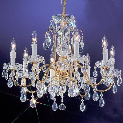 Daniele 8-Light Crystal Chandelier Finish: Gold Plated