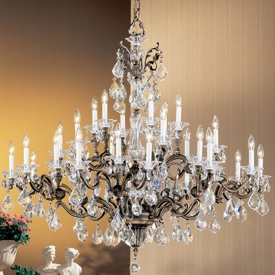 Via Firenze 30-Light Crystal Chandelier Finish: Roman Bronze, Crystal Type: Crystalique
