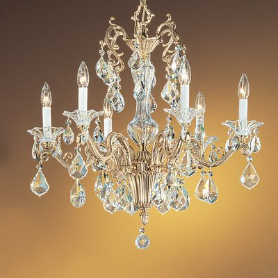 Via Firenze 6-Light Crystal Chandelier Finish: Bronze with Black Patina, Crystal Type: Crystalique