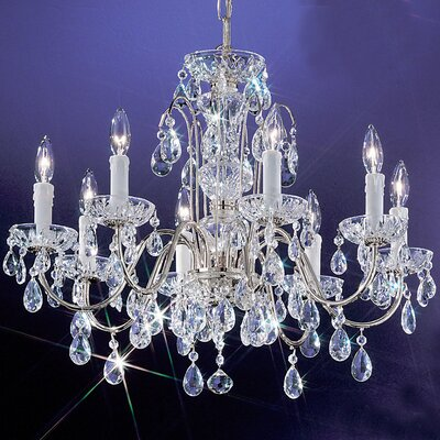 Letitia Traditional 8-Light Crystal Chandelier Finish: English Bronze