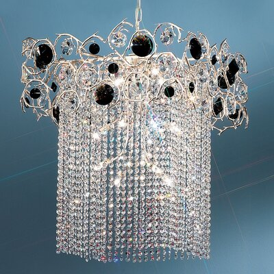 Foresta Colorita 12-Light Crystal Chandelier Finish: Silver Frost, Crystal Type: Black and Smoke