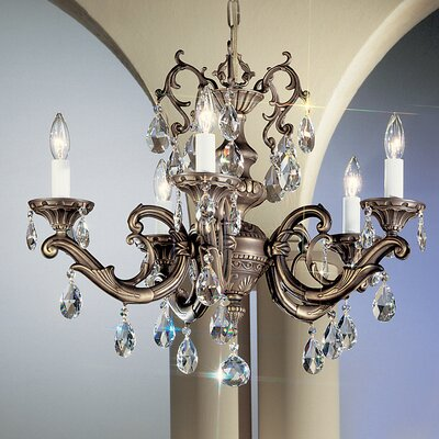 Princeton II 5-Light Crystal Chandelier Finish: Millenium Silver, Crystal Type: Swarovski Elements