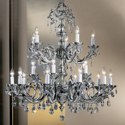 Princeton II 20-Light Crystal Chandelier Crystal Type: Swarovski Elements, Finish: Millenium Silver