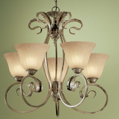 Manilla 5-Light Candle-Style Chandelier Glass Color: Sandstone