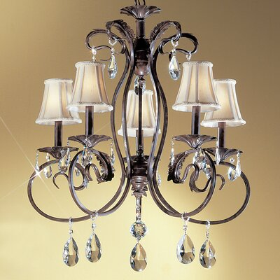 Manilla II 5-Light Shaded Chandelier Crystal Type: Crystalique