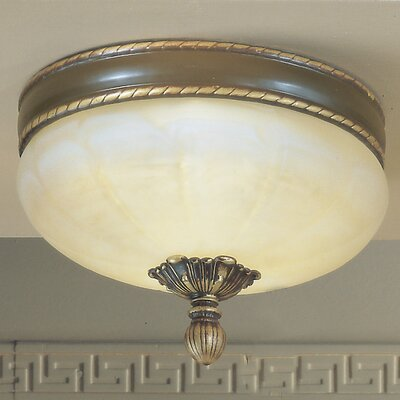 Alexandria II 3-Light Semi-Flush Mount Finish: Victorian Bronze
