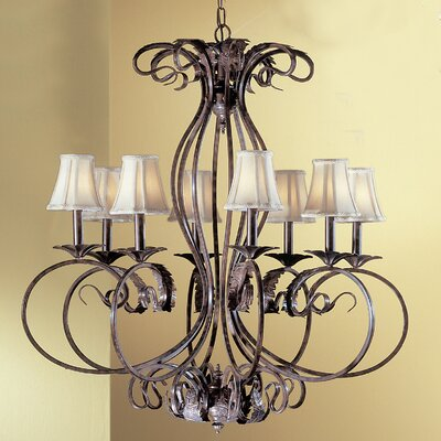 Manilla II 8-Light Shaded Chandelier Crystal Type: Swarovski Spectra