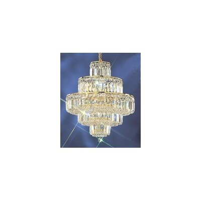 Ambassador 12-Light Crystal Chandelier Finish: 24k Gold Plate, Crystal Type: Crystalique Plus