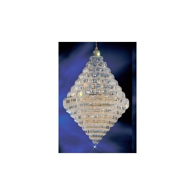 Ambassador 30-Light Crystal Chandelier Crystal Type: Crystalique Plus, Finish: 24k Gold Plate