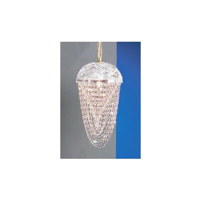 Prague 1-Light Foyer Pendant Finish: 24K Gold Plate, Crystal Type: Crystalique