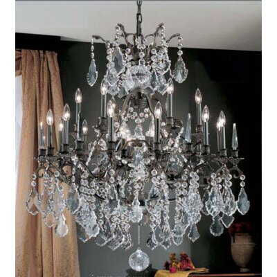 Versailles 25-Light Crystal Chandelier Crystal Type: Crystalique