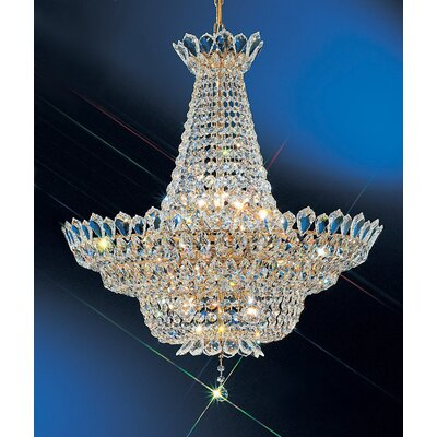 Tiara 16-Light Crystal Chandelier Size: 28 H x 28 W x 28 D