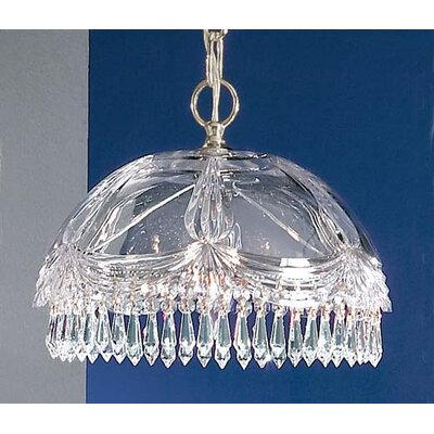 Prague 1-Light Bowl Pendant Finish: 24K Gold Plate, Crystal Type: Crystalique