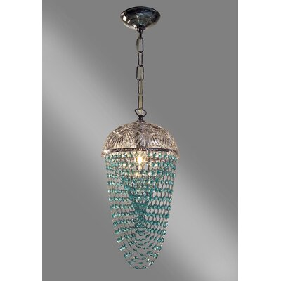 Prague Color 1-Light Foyer Pendant Crystal Type: Crystalique Antique Green