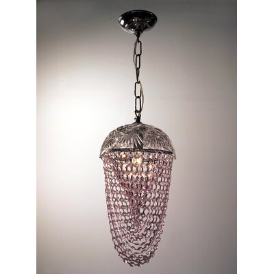Prague Color 1-Light Foyer Pendant Crystal Type: Crystalique Pink