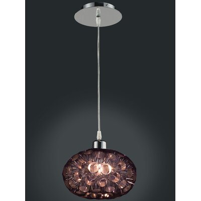 Laguna 1-Light Globe Pendant Finish: Chrome with Black Shades