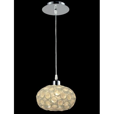 Laguna 1-Light Globe Pendant Finish: Chrome with White Shades