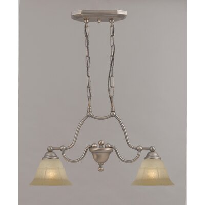 Providence 2-Light Island-Billiard Light Finish: Rustic Bronze, Glass Color: White Alabaster