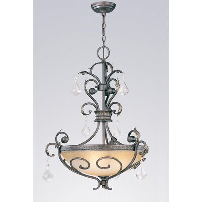 Avalon 3-Light Inverted Pendant Crystal Type: Swarovski Elements Golden Teak