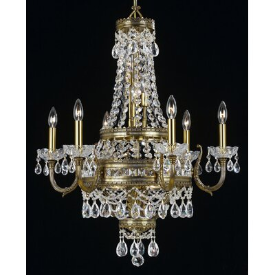 Contessa 12-Light Crystal Chandelier Finish: Ivory Gold